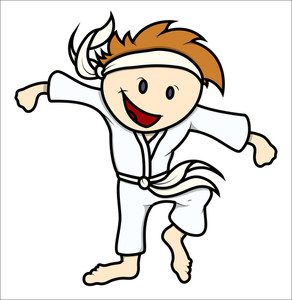 Martial Arts Kid - Vector Cartoon Illustration
