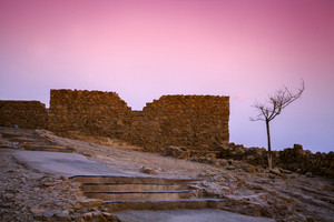 Masada fortress at sunrise