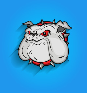 Mascot Bulldog Face Vector