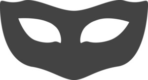Mask 1 Glyph Icon