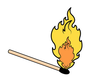 Matchstick Flame Vector Illustration