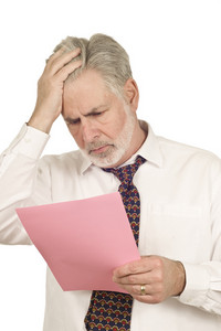 Mature Man With Layoff Notice