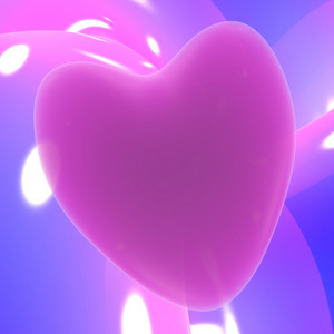 Mauve Heart On A Glowing Background Showing Love Romance And Valentines Day