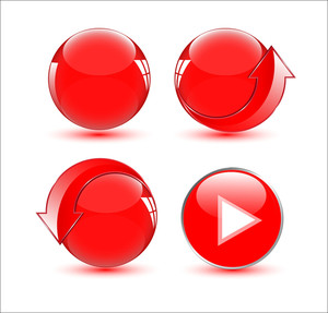 Media And Web Buttons Vectors