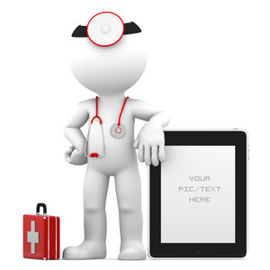 Medic With Tablet Computer