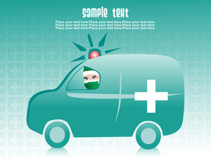Medical Ambulance Background With Sample Text