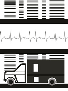 Medical Background With Ambulance