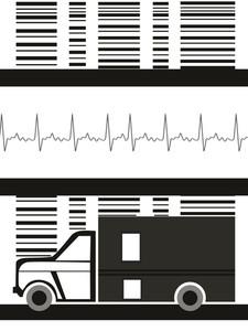 Medical Background With Ambulance