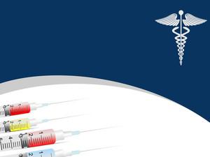 Medical Background With Syringe