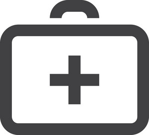 Medical Briefcase Stroke Icon