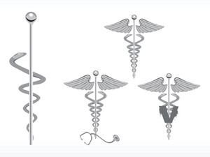 Medical Caduceus Icon Set