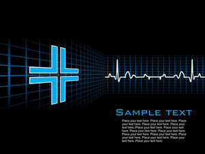 Medical Heart Beat Symbol Background