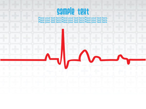 Medical Heart Beat Theme Background
