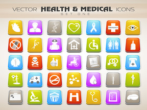 Medical Icons Set Isolated On Grey Background 10