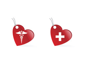 Medical Symbols Tag Vector Illustration