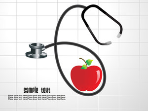 Medical Tool With Fresh Apple