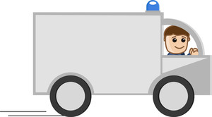 Medical Van - Medical Cartoon Vector Character