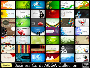 Mega Collection Of 42 Abstract Professional And Designer Business Cards Or Visiting Cards On Different Topic