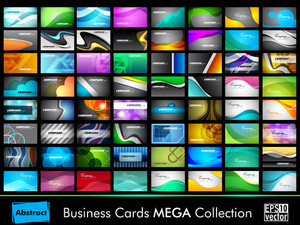 Mega Collection Of 64 Slim Professional And Designer Business Cards Or Visiting Cards On Different Topic