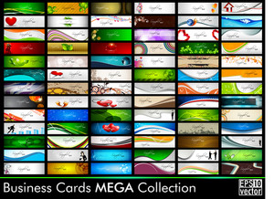 Mega Collection Of 78  Abstract Professional And Designer Business Cards Or Visiting Cards On Different Topic