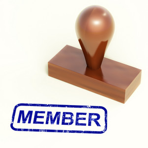 Member Rubber Stamp Shows Membership Registration And Subscribing