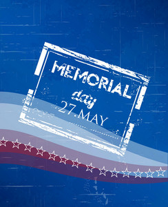 Memorial Day Vector Illustration With Stamp