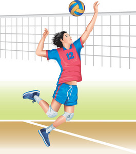 Men Volleyball Vector
