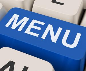 Menu Keys Shows Ordering Food Menus Online
