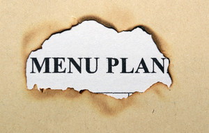 Menu Plan On Paper Hole