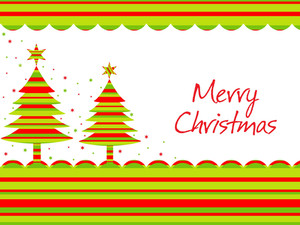 Merry Christmas Background With Tree