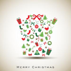 Frohe Weihnachten Feier Hintergrund.