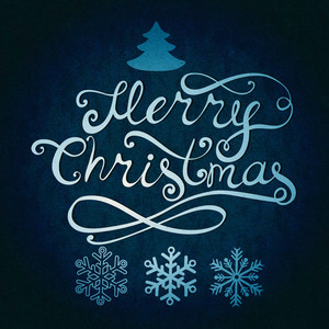 Merry Christmas Lettering. Greeting Card With Hand-drawn Letters