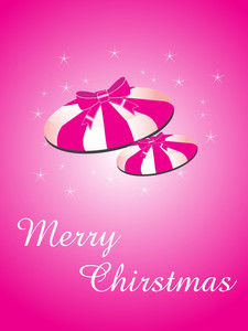 Merry Christmas On Pink Background
