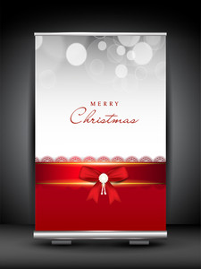 Merry Christmas Roll Up Stand Banner.