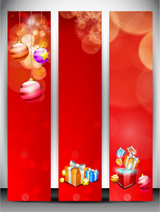 Merry Christmas Website Banner Set