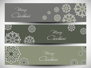 Merry Christmas Website Header Or Banner Set