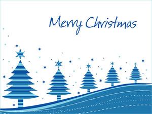 Merry Xmas Background With Many Tree