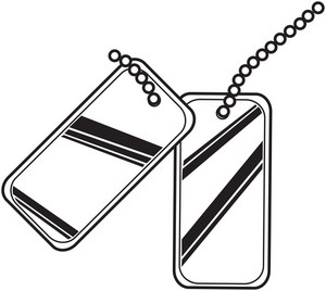 Metal Dog Tag Vector Element
