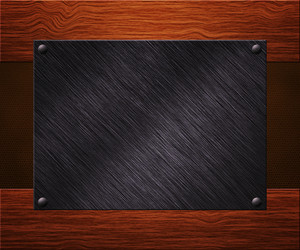 Metal Plate On Boards Background