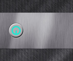 Metal Power Button Background