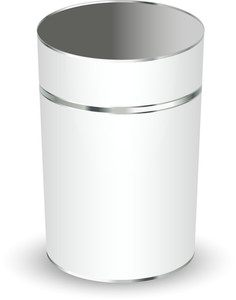Metallic Bucket Vector