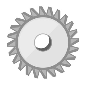 Metallic Gear Vector