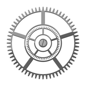 Metallic Gear Wheel Design
