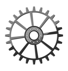 Metallic Gear Wheel Element