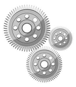 Metallic Gear Wheels Vectors