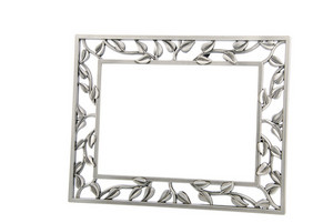 Metallic Photo-frame On White