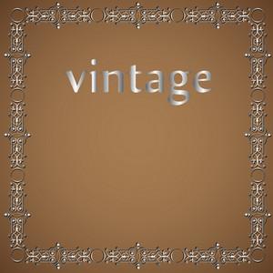 Metallic Vintage Frame