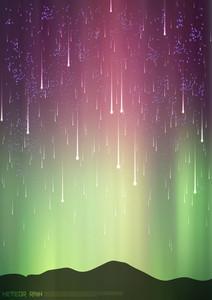 Meteor Rain Vector