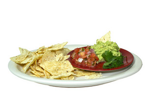 Mexican Guacamole And Chips