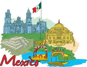 Mexico Vector Doodle